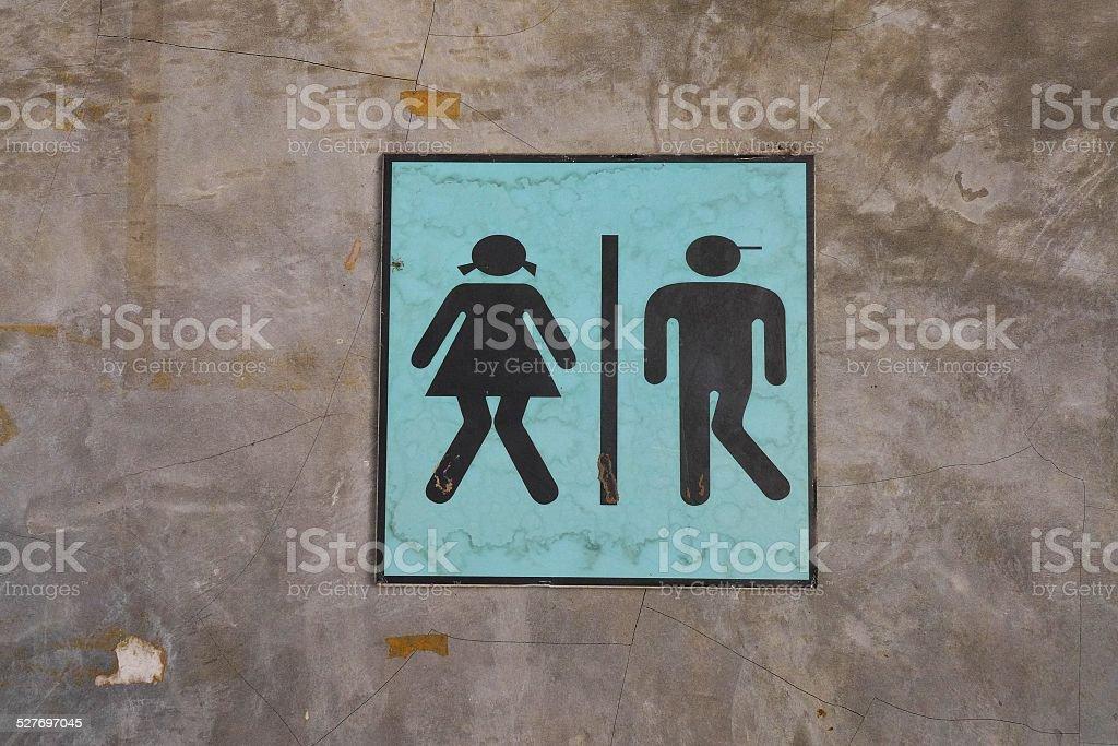 toilet sign. stock photo