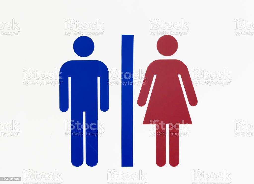 Panneau de toilettes  - Photo