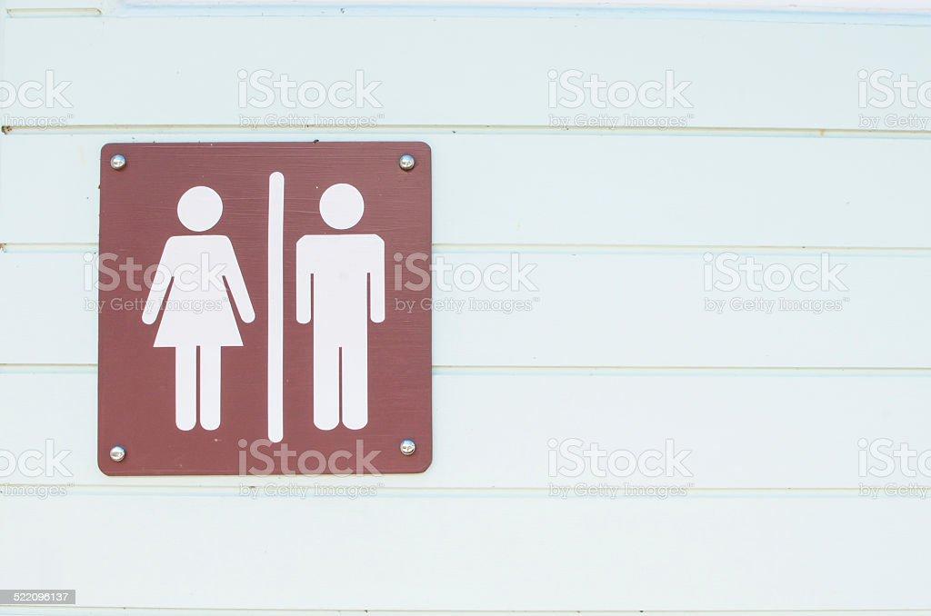 Toilet symbol background stock photo