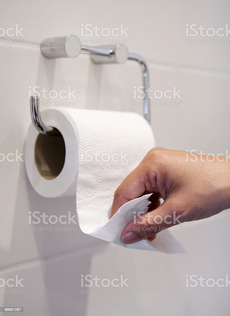 Toilet visit royalty-free stock photo