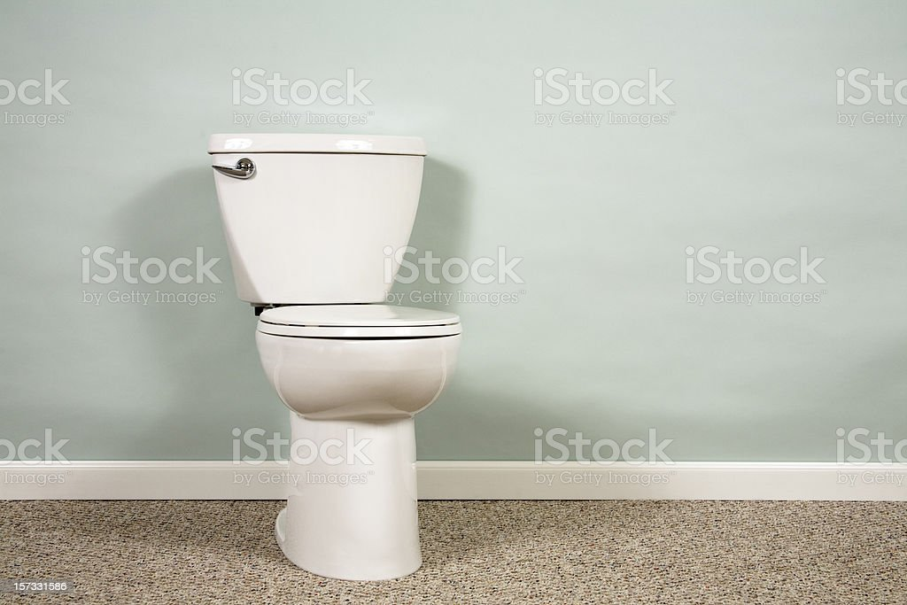 Toilet with copyspace stock photo