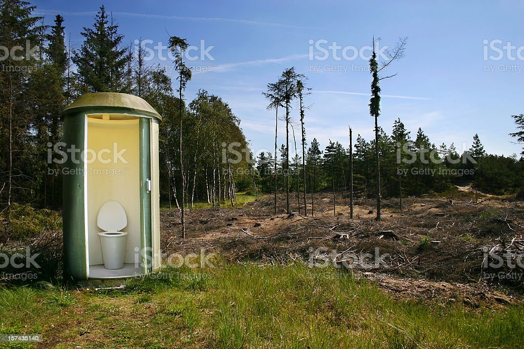 Toilet/Restroom in nature stock photo