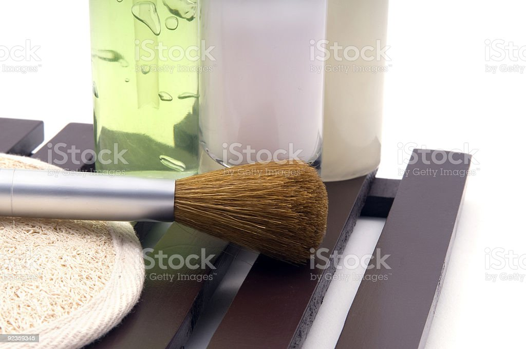 Toiletries and Makeup collection royalty-free stock photo
