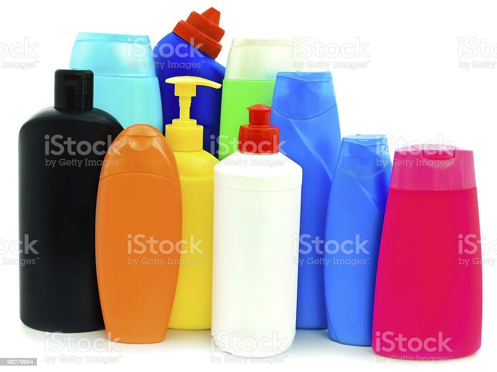 toiletries bottles royalty-free stock photo