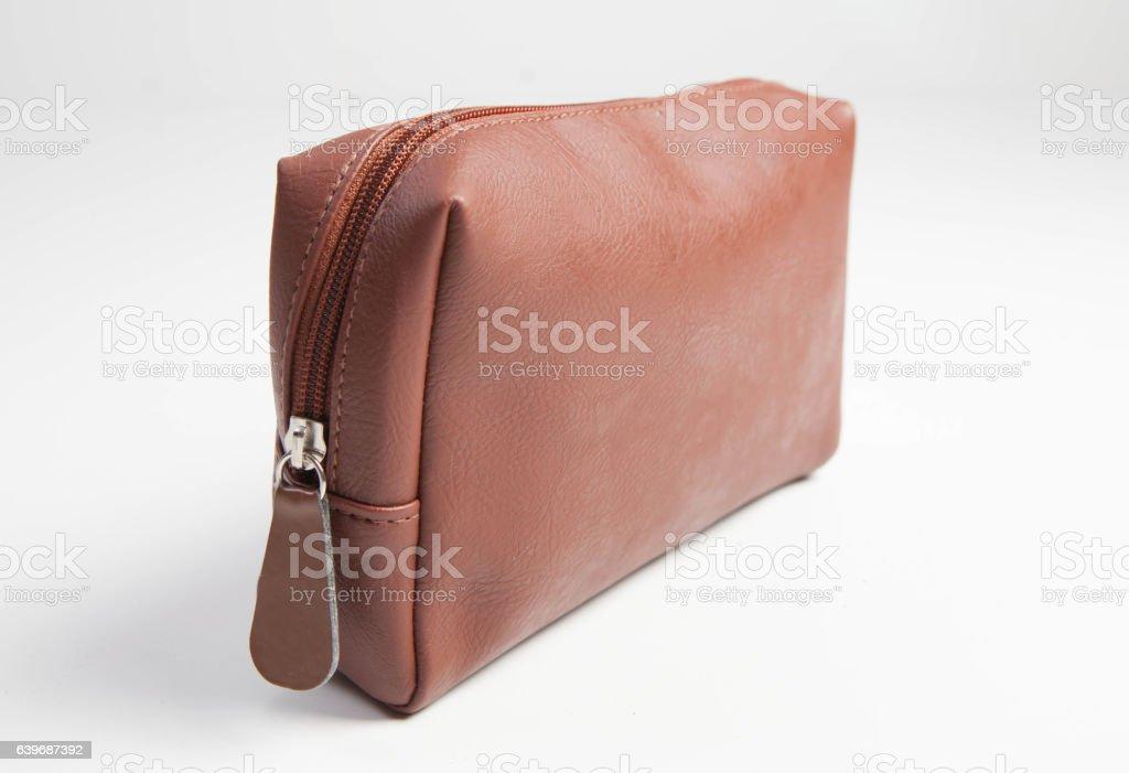 toiletry bag stock photo