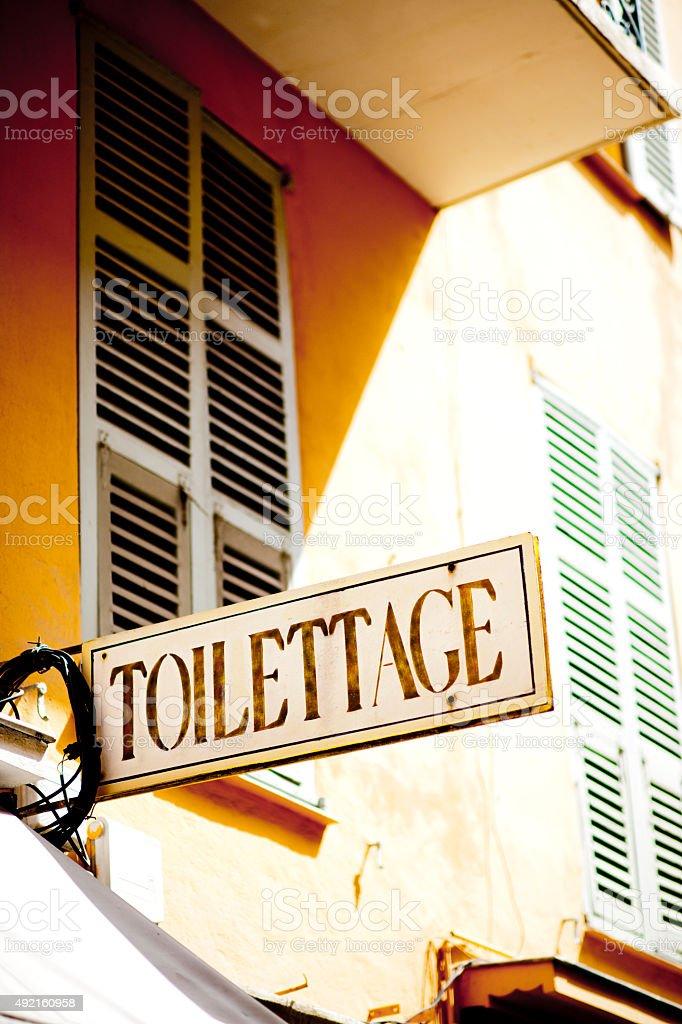 Toilettage stock photo