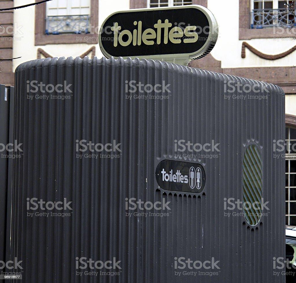 Toilettes royalty-free stock photo