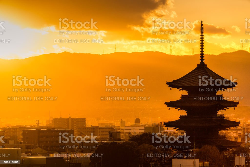 To-ji temple, Kyoto, Japan stock photo