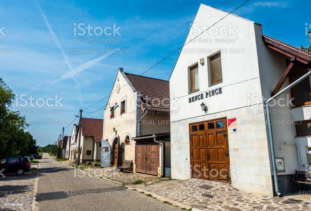 tokai tokaj hungary cellar street winemaking day stock photo