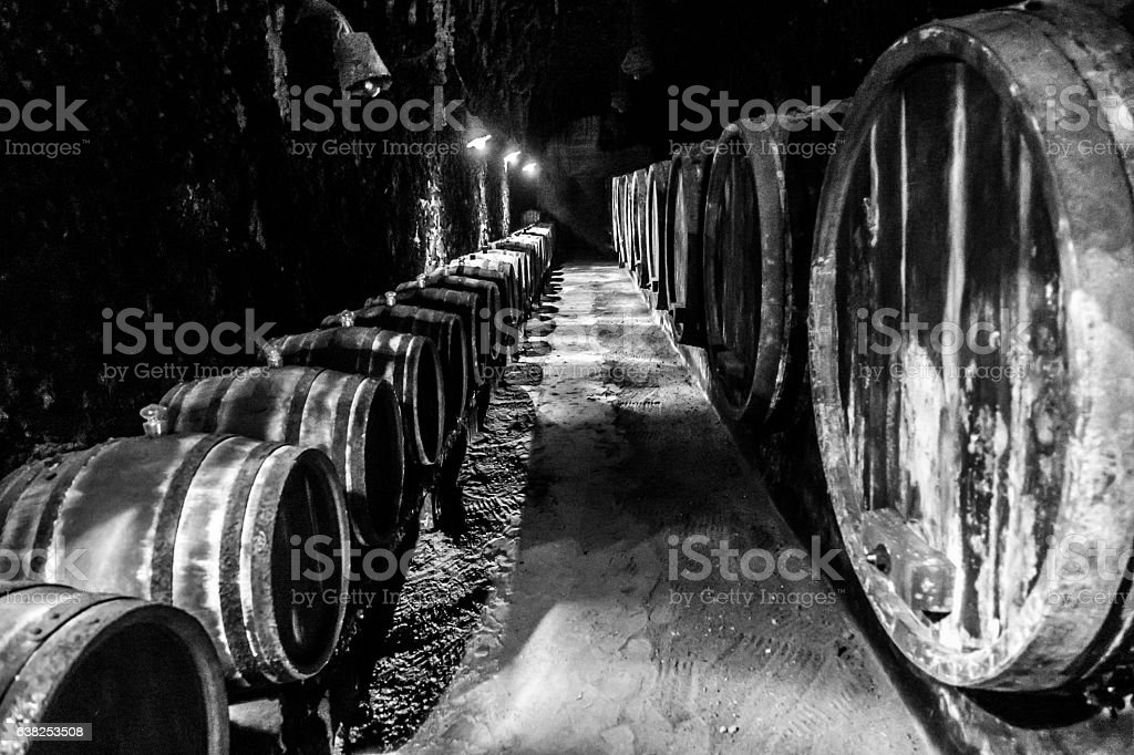 tokaj hungary cellar barrel furmint muskotaly aszu edes szamorodni stock photo