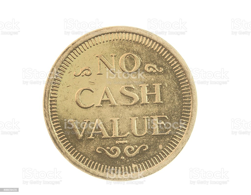 Token Coin stock photo