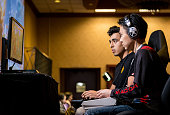 "Sacramento, CA, USA – March 27, 2016: Hajime ""Tokido"" Taniguchi versus Julio in Round 4 of Street Fighter V (5) at fighting game tournament NCR NorCal Regionals 2016."