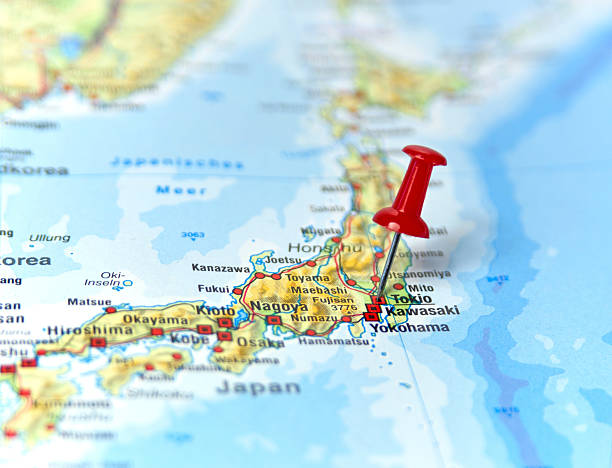 tokio - 日本 地図 ストックフォトと画像