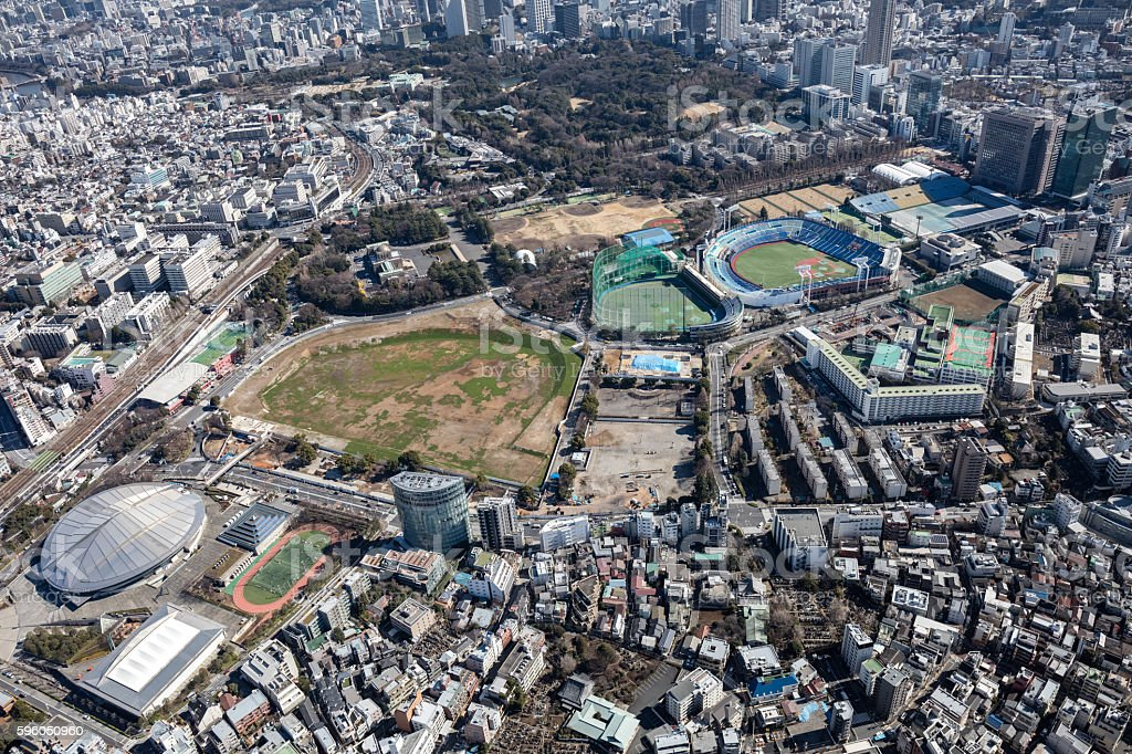 Tokyo Aerial View royalty-free stock photo