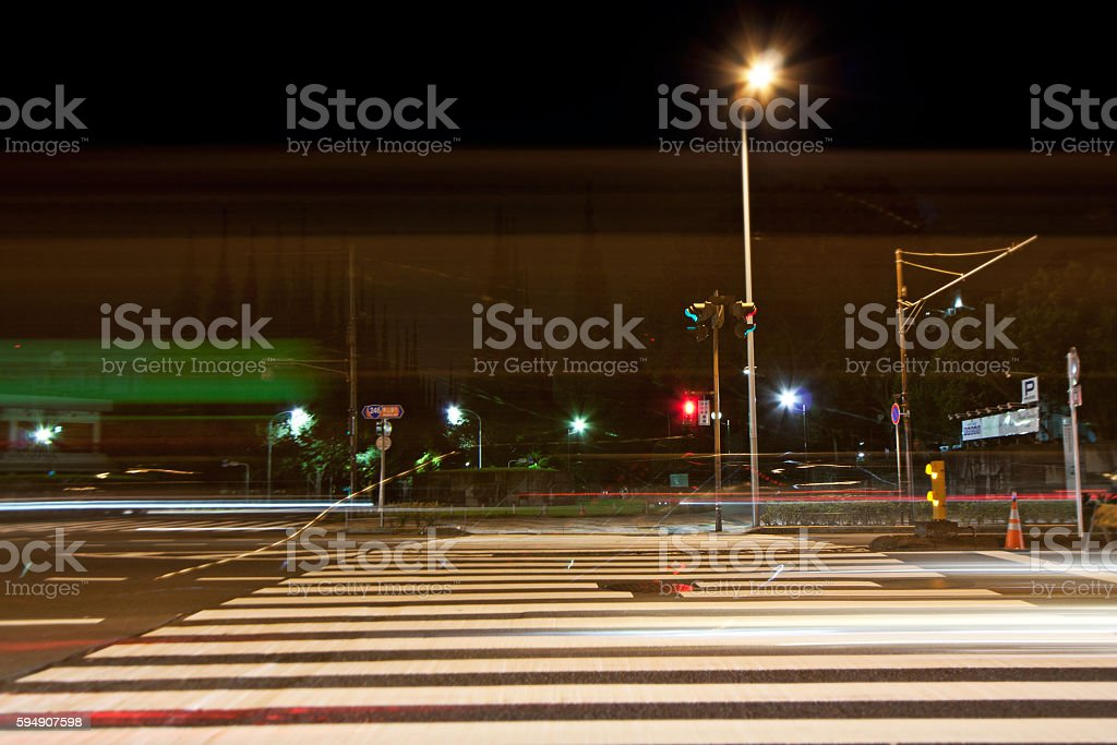 Tokyo Aoyama night of road / national highway 246 ストックフォト