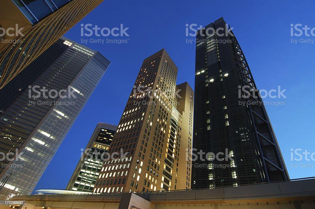 Tokyo at dusk royalty-free stock photo
