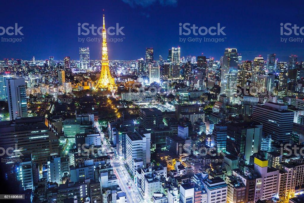 Tokio bei Nacht Lizenzfreies stock-foto