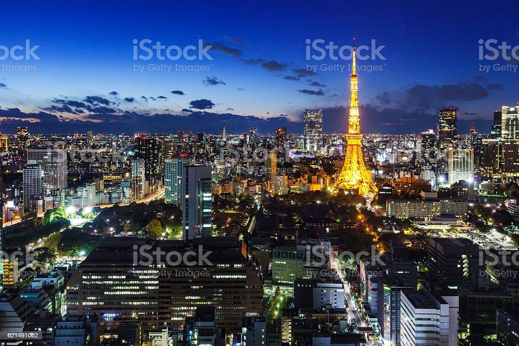 Tokyo di notte foto stock royalty-free