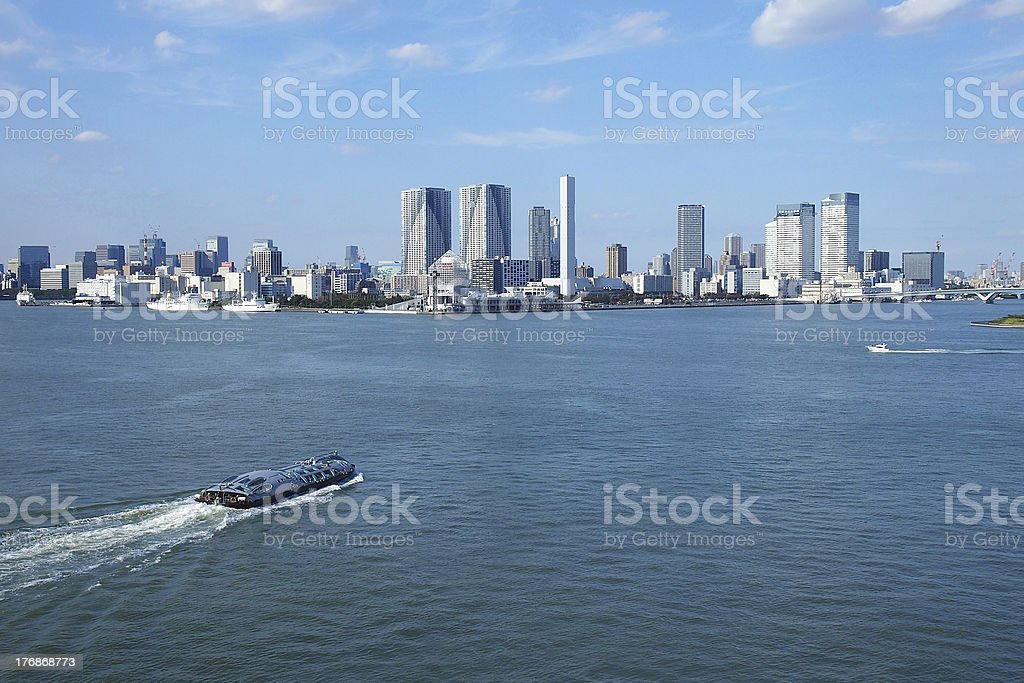 Tokyo Bay and building group stock photo