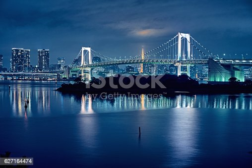 928415496 istock photo Tokyo bay and Tokyo rainbow bridge 627164474