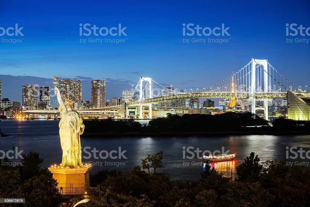 Tokyo Bay At Night stock photo