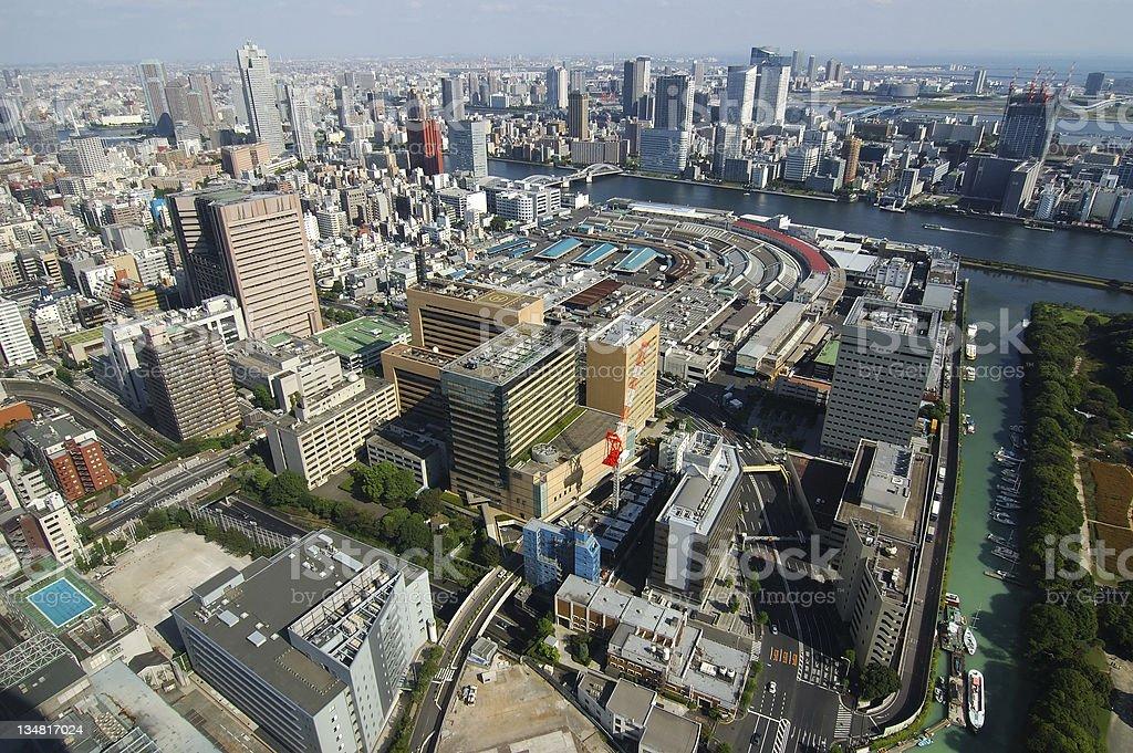 Tokyo Bay Skyline royalty-free stock photo