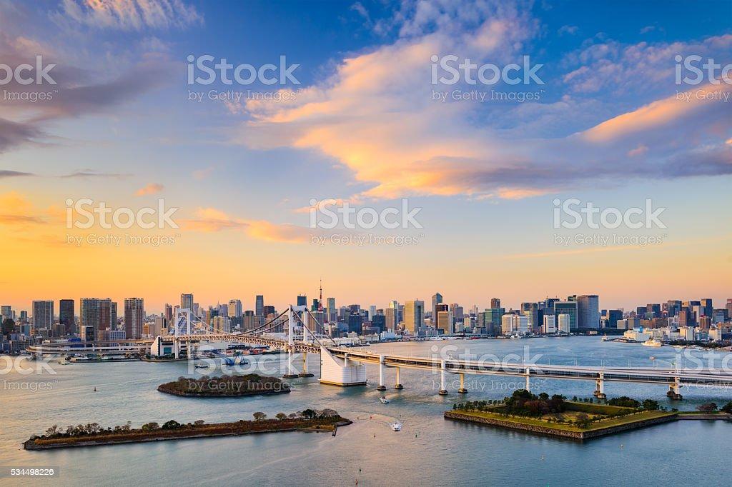 Tokyo Bay Skyline stock photo