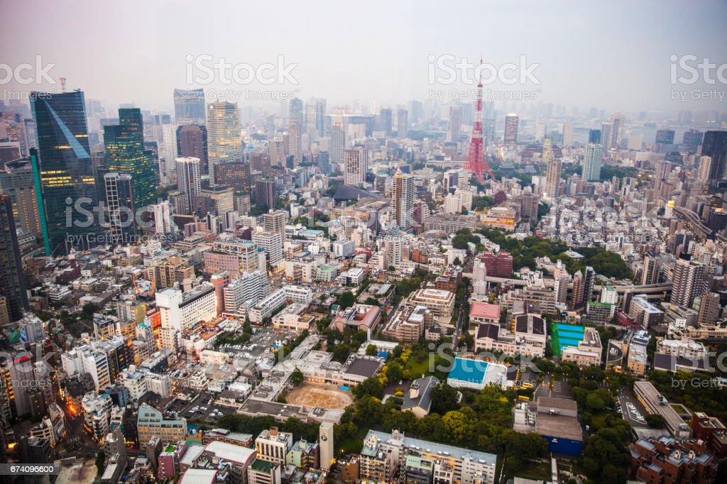 Tokyo beautiful cityscape at night royalty-free stock photo
