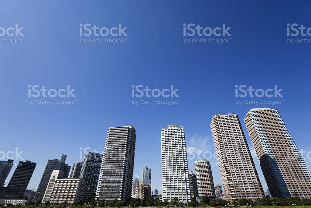 Tokyo Buildings royalty-free stock photo