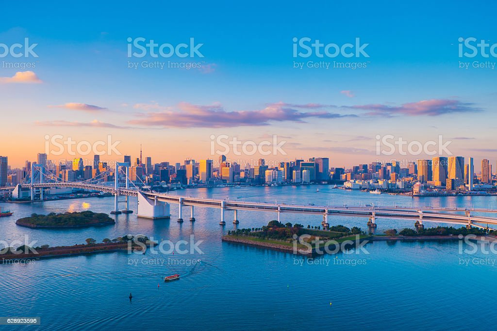 Tokyo business district stock photo