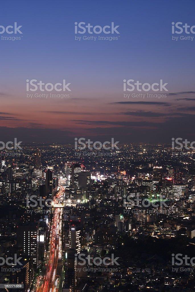 Tokyo - busy road to Shibuya royalty-free stock photo