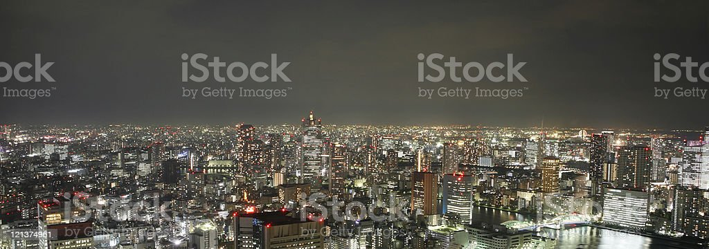 Tokyo by Night royalty-free stock photo