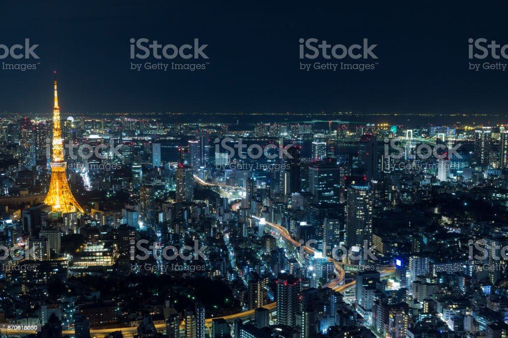 Tokyo by night stock photo