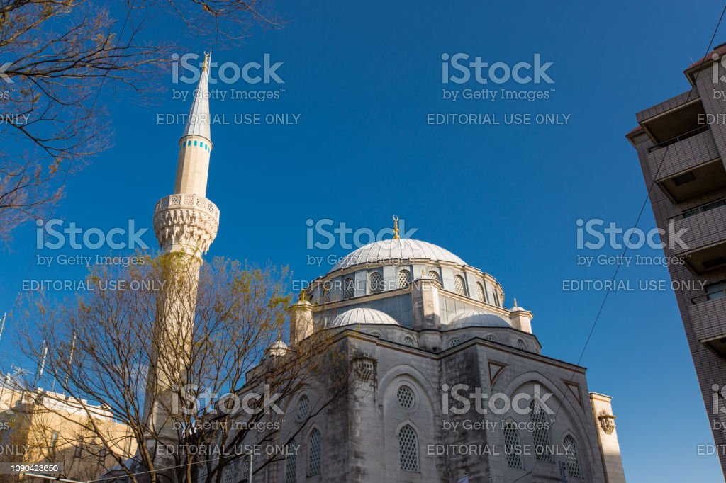 Tokyo Camii Dome and Minaret stock photo