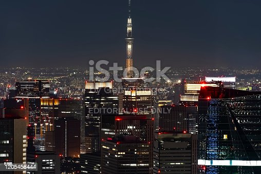 1131743616 istock photo Tokyo ciity by night viewed from high up 1205458444