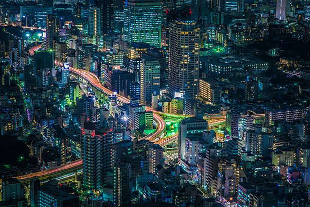 Tokyo city by night 1 stock photo