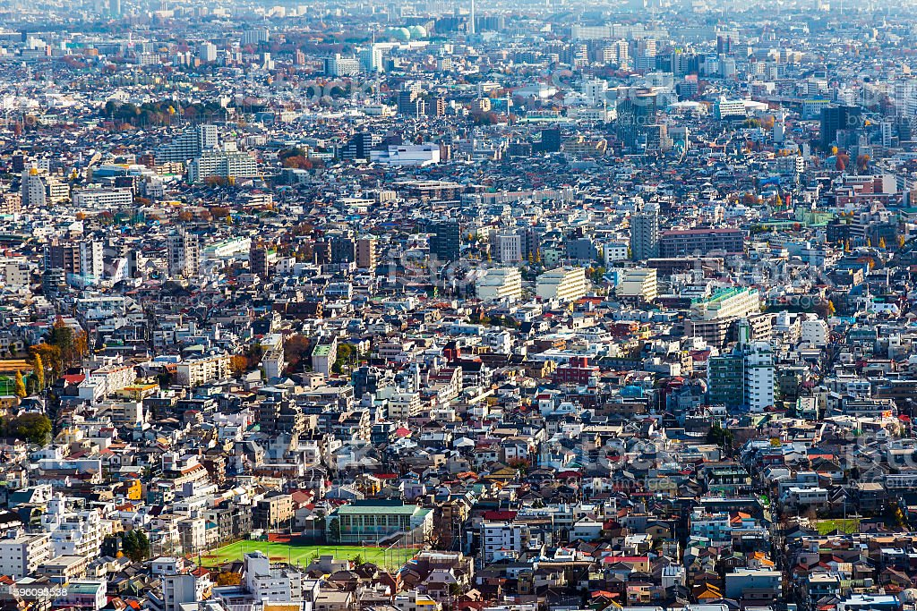 Tokyo city central residence area royalty-free stock photo