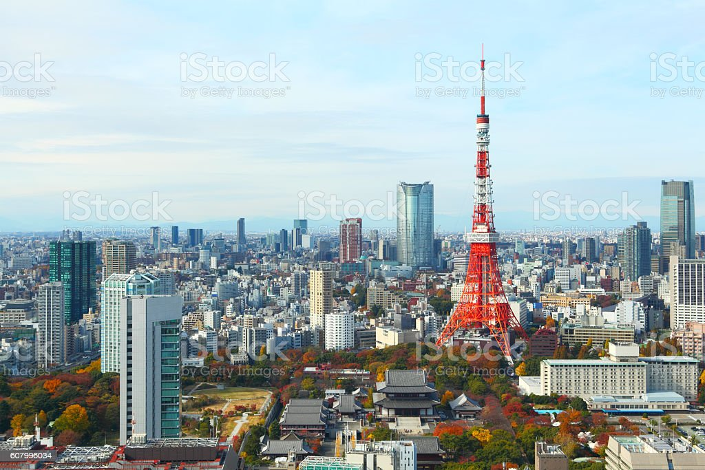 Tokyo city in Japan stock photo