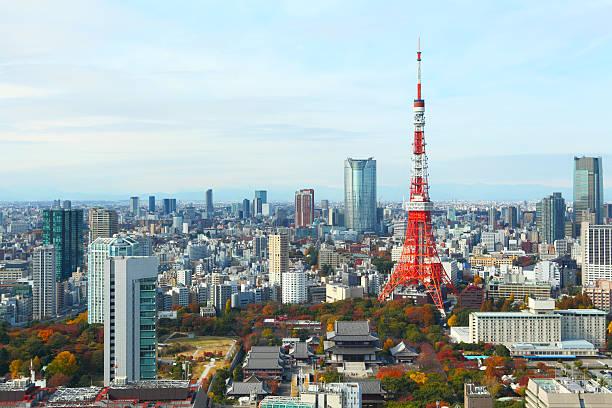 Tokyo city in Japan stock photo
