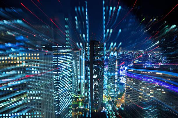 tokyo city lights - japanische lampen stock-fotos und bilder