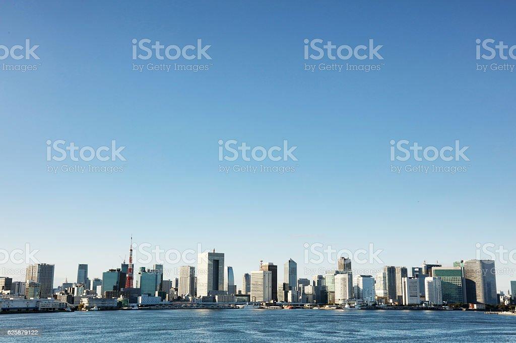 Tokyo city silhouette. stock photo