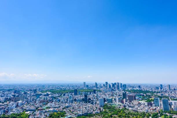 東京シティスカイライン, 日本 - 緑 ビル ストックフォトと画像