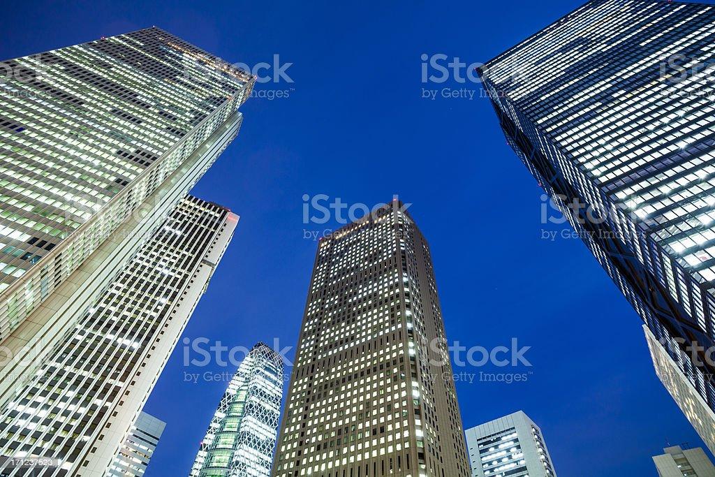 Tokyo city skyscrapers, Japan stock photo