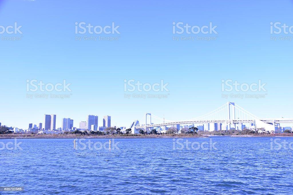 Tokyo city view daytime royalty-free stock photo