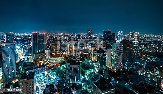 istock Tokyo cityscape aerial view 1278304139