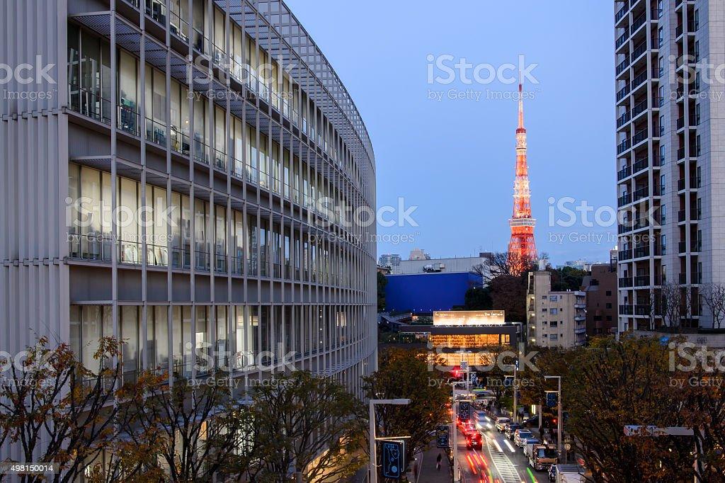 Tokyo cityscape from Roppongi Hill stock photo