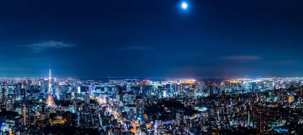 東京の街並。パノラマ ビュー。 - 東京 ストックフォトと画像