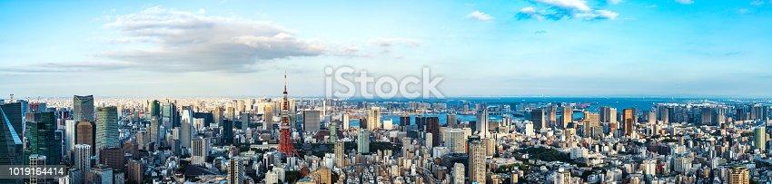 istock Tokyo cityscape. Panorama view. 1019164414