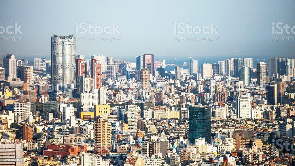 Tokyo cityscape. stock photo