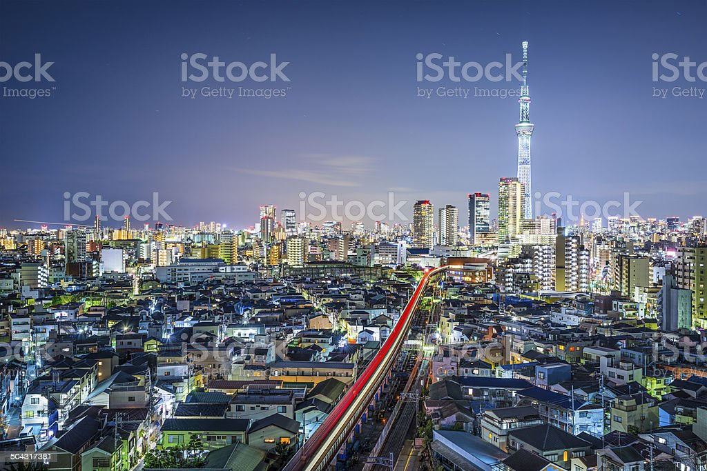 Tokyo Cityscape with Skytree stock photo